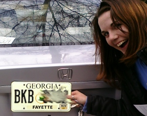 Katie with her new Georgia TAG